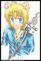 +Doodle- Elric Pendragon by Karyogui
