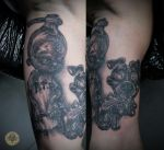 psycho boy comic dog tat by 2Face-Tattoo