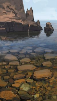 Water and Rocks by Andead