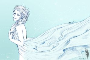 Elsa Frozen Sketch by RerinKin