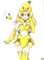 Angry Birds yellow bird girl by Neon-Juma