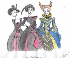 The  Red  Queen  court by DemonCartoonist