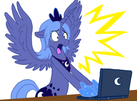 Laptop Luna by Ricky47