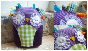 Owl Baby Plush Toy by Marki-san-Design