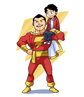 Billy and Captain Marvel by Sii-SEN