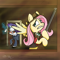Right Behind You by Swordflash4