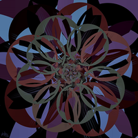 abstracted flower by skulkey