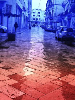 Wet street Matera Italy by 888toto