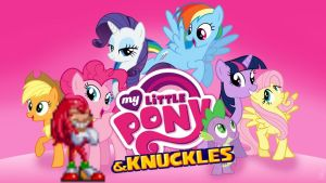 My Little Pony: Friendship is Magic and Knuckles by AlexandLilli