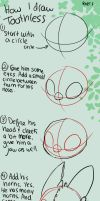 How to Draw Toothless Tutorial by Spiritwollf