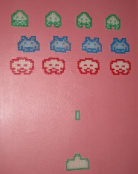 Space Invaders Hama - on wall by JiFish