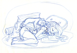 Commis. 2_Blonde and cat_ WIP2 by tombancroft