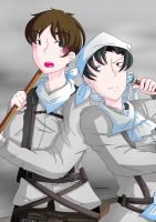 [Attack on Titan] Eren y Levi by irenereru