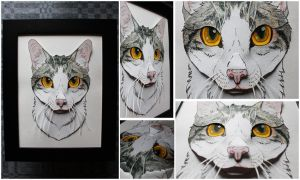 Commissions: 3D - Portrait - Gray petcat by SaQe