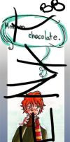 ron chocolate bookmark by gwingangel