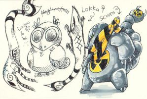 Loka Looloo and Scorps by Captain-Dark-Kitty