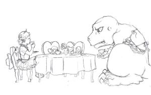 Daphne and Her Dinosaur - Tea Time by TeddysTwin