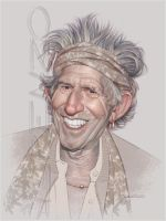 Keith Richards by LorenzoDiMauro