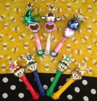 Sailor Scout Transformation Wands by maryjane
