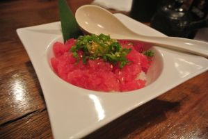 Tuna on rice by Shinseigo-Takashi