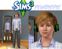 Pewdiepie ~ Sims 3 by MoonBeatz