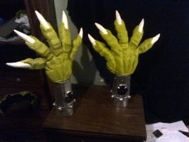 Axl Reigns  Cosplay  hands and guantlets by mongrelman