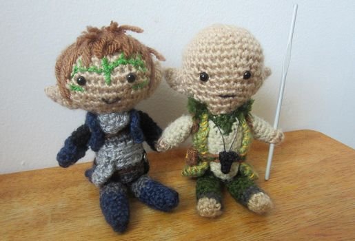 Solas and Lavellan - Dragon age Inquisition by ninjapoupon