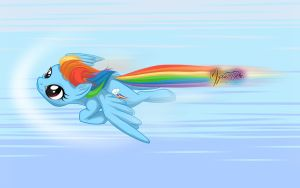 Rainbow Dash Flying Wall by mysticalpha