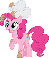 Baker Pinkie - Vector by icantunloveyou