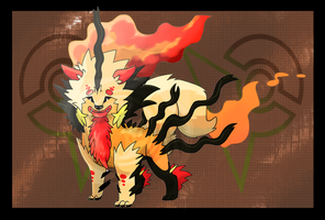 Mega Arcanine: Fire/Dragon by TheBlazingK
