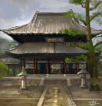 temple by xiaoxinart