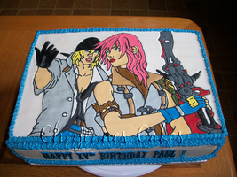 Final Fantasy cake by mystiic143