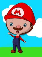 Chibi Mario (digital version) by JellyLoveHeart