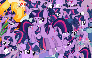 Twilight Sparkle explosion wallpaper by Starlyk