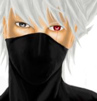 kakashi portrait by LadyBad