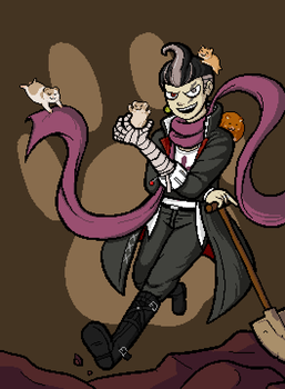 Crypt of the Necrodancer Gundham mod character art by CaptainQuestion