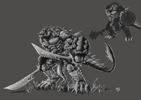 Lizardman by Nerkin