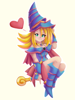 Dark Magician Girl [SpeedPaint] by CuteyTCat
