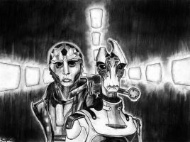 Mordin Solus and Thane Krios by Dauganor