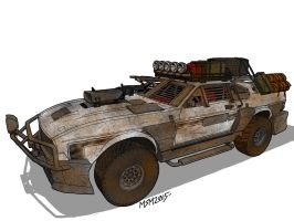 Post Apocalyptic Ford Mustang Outsider by RedSpider2008