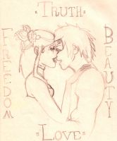 Freedom Truth Beauty Love by kage-kunoichi