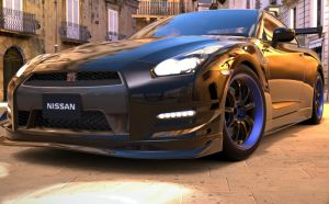 Nissan GTR R35 at Syracuse  Night2 by NightmareRacer85