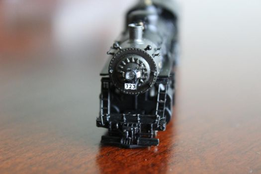 2-8-0 Steam Engine Front View by drfarrin