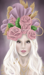 Valkoinen and Rose Headpiece by Flurryfox