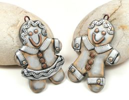 Steampunk Gingerbread Couple by DesertRubble