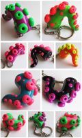 PMX Tentacle Keychains by KTOctopus