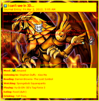 Winged Dragon Of Ra Journal CSS by AESD