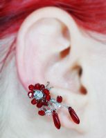 Blood and Ice Ear Cuff by sylva