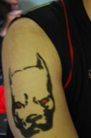 Pitbull Tattoo- from Red Hulk by dokuneko