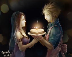 happy birthday for Tifa by TeavyR